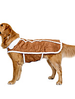 Dog Coat Vest Dog Clothes Casual/Daily Keep Warm Wedding Sports New Year's British Brown Costume For Pets