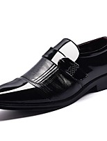 Men's Shoes Synthetic Microfiber PU PU Leatherette Fall Winter Comfort Loafers & Slip-Ons Buckle For Casual Black