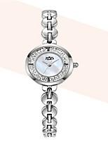 Mulheres Relógio de Moda Quartzo Lega Banda Prata