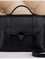 Women Bags All Seasons Cowhide Tote Buttons Zipper for Casual Light Purple Sillver Gray Black