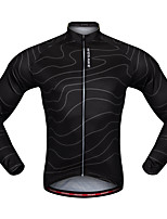 WOSAWE Cycling Jersey Unisex Long Sleeves Bike Jersey Top Breathability Polyester Classic Autumn/Fall Mountain Cycling Road Cycling