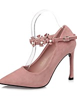 Women's Shoes Leatherette Spring Fall Comfort Heels Stiletto Heel Pointed Toe For Dress Wine Blushing Pink Gray Black