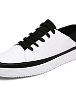 Men's Shoes PU Spring Fall Comfort Sneakers For Casual Black/White White
