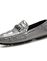Men's Shoes Patent Leather Spring Fall Comfort Loafers & Slip-Ons Studded For Casual Party & Evening Dark Blue Silver Black White