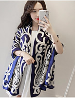 Women's Cotton Rectangle Print Winter All Seasons