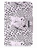 carteira de cartão de padrão de leopardo carteira com suporte flip caixa de couro magnético PU para samsung galaxy tab a 10.1 t580n t585n
