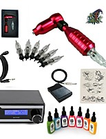 cheap -Tattoo Machine Starter Kit - 1 pcs Tattoo Machines with 7 x 15 ml tattoo inks, Professional LED power supply 1 rotary machine liner &