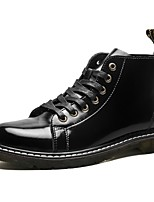 Men's Shoes PU Spring Fall Combat Boots Boots Lace-up For Casual Black