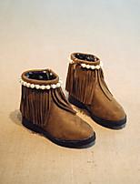 Fille Chaussures Similicuir Automne Hiver Confort Bottes Bottine/Demi Botte Pour Décontracté Noir Vin Kaki