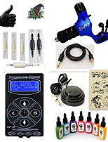 cheap -Tattoo Machine Starter Kit - 1 pcs Tattoo Machines with 7 x 15 ml tattoo inks, Professional 1 rotary machine liner & shader