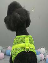 Кошка Собака Жилет Одежда для собак Терилен Весна/осень Зима Спорт Для отдыха Хэллоуин Рождество Однотонный Оранжевый Зеленый Для
