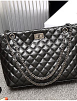 Women Bags PU Shoulder Bag Zipper for Casual All Seasons Black