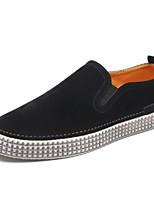Hombre Zapatos Tul Primavera Otoño Confort Zapatos de taco bajo y Slip-On Running Para Deportivo Casual Negro Marrón