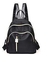 Women Bags All Seasons Nylon Backpack Zipper for Casual Office & Career Black