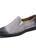 Hombre Zapatos Ante Primavera Otoño Confort Zapatos de taco bajo y Slip-On Para Casual Fiesta y Noche Negro Gris Marrón