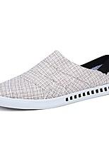 Для мужчин обувь Тюль Весна Осень Удобная обувь Мокасины и Свитер Назначение Повседневные Бежевый Серый