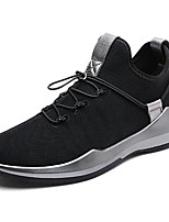 Men's Shoes Breathable Mesh Fall Winter Comfort Sneakers Lace-up For Casual Black