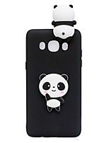 Coque Pour Samsung Galaxy J5 (2017) J3 (2017) Motif A Faire Soi-Même Coque Arrière Dessin Animé 3D Panda Flexible TPU pour J7 (2016) J7