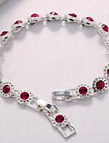 Femme Chaînes & Bracelets Zircon cubique Zircon Plaqué argent Forme de Cercle Bijoux Pour Mariage Soirée