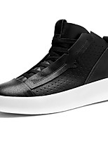 Men's Shoes Synthetic Microfiber PU Spring Fall Comfort Sneakers Lace-up For Casual White Black