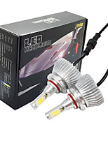 Joyshine C6-9006 LED Headlight Bulbs 60W 6000LM DC9-36V COB Conversion Bulb Beam Kit Cool White