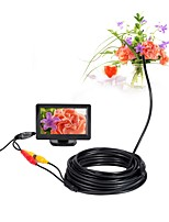AV Endoscope Camera 5V Mini Camera NTSC Waterproof IP66 5.5mm Lens 10m Inspection Borescope Snake Pipe Cam Night Vision