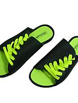 Для мужчин обувь Кожа ПВХ  Весна Лето Светодиодные подошвы Сандалии Назначение Повседневные Белый Черный Зеленый