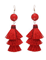 Women's Drop Earrings Hoop Earrings Jewelry Tassel Alloy Jewelry Jewelry For Gift Date