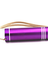 ANOWL Key Chain Flashlights - 120 lm 1 Mode - Portable Easy Carrying Everyday Use Gold Orange Purple Pink