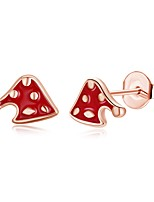 Women's Stud Earrings Personalized Hypoallergenic Silver Plated Alloy Geometric Irregular Jewelry For Gift Christmas