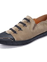 Men's Shoes Fall Comfort Loafers & Slip-Ons for Casual Party & Evening Black Gray Khaki