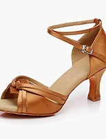 Women's Latin Terylene Heel Performance Camel