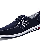 Men's Shoes Fabric Fall Comfort Sneakers Lace-up For Outdoor Gray Dark Blue Black