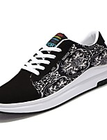 Men's Shoes PU Spring Fall Comfort Sneakers Lace-up For Casual White/Yellow White/Blue Black White