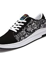 Для мужчин обувь Полиуретан Весна Осень Удобная обувь Кеды Шнуровка Назначение Повседневные Белый Черный Белый/синий Белый/Желтый