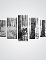 Stretched Canvas Print Five Panels Canvas Horizontal Print Wall Decor For Home Decoration