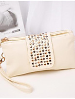 Women Bags All Seasons PU Clutch Zipper for Event/Party Formal White Black Red