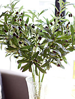 2 Branch Plastic Plants Tabletop Flower Artificial Flowers