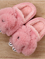 Girls' Shoes Flocking Winter Fur Lining Slippers & Flip-Flops For Casual Blushing Pink Gray Black