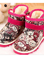Girls' Shoes Canvas Spring Fall Fluff Lining Comfort Boots For Casual Blushing Pink Yellow