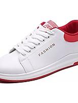 Homme Chaussures Polyuréthane Automne Hiver Confort Basket Lacet Pour Décontracté Rose et blanc Noir/blanc Blanc/Bleu
