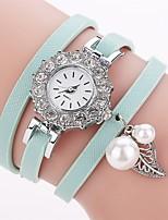 Women's Fashion Watch Simulated Diamond Watch Bracelet Watch Chinese Quartz Imitation Diamond PU Band Charm Elegant Casual Black Blue