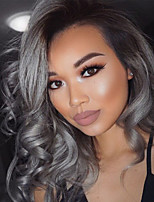 Remy Brazilian Hair Weft with Closure Hair Extensions Four-piece Suit Black/Grey