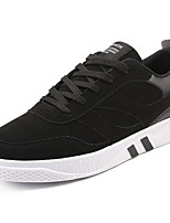 Men's Shoes PU Fall Winter Comfort Sneakers Lace-up For Casual Outdoor Black/Red Black/White Gray Black