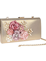 Women Bags All Seasons PU Evening Bag Flower(s) for Wedding Event/Party White Black Red Light Green Fuchsia