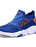 Boys' Shoes Tulle Fall Winter Comfort Sneakers Lace-up For Casual Outdoor Blue Green Black
