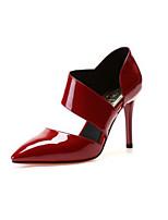 Для женщин Обувь Кожа Весна Осень Туфли лодочки Обувь на каблуках Назначение Повседневные Белый Черный Красный
