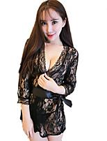 Costumes Vêtement de nuit Femme,Sexy Dentelle Jacquard Polyester Nylon Spandex