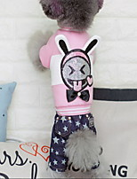 Dog Clothes/Jumpsuit Dog Clothes Casual/Daily Animal Black Pink