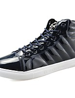 Men's Shoes PU Spring Fall Comfort Sneakers For Casual Blue Black White